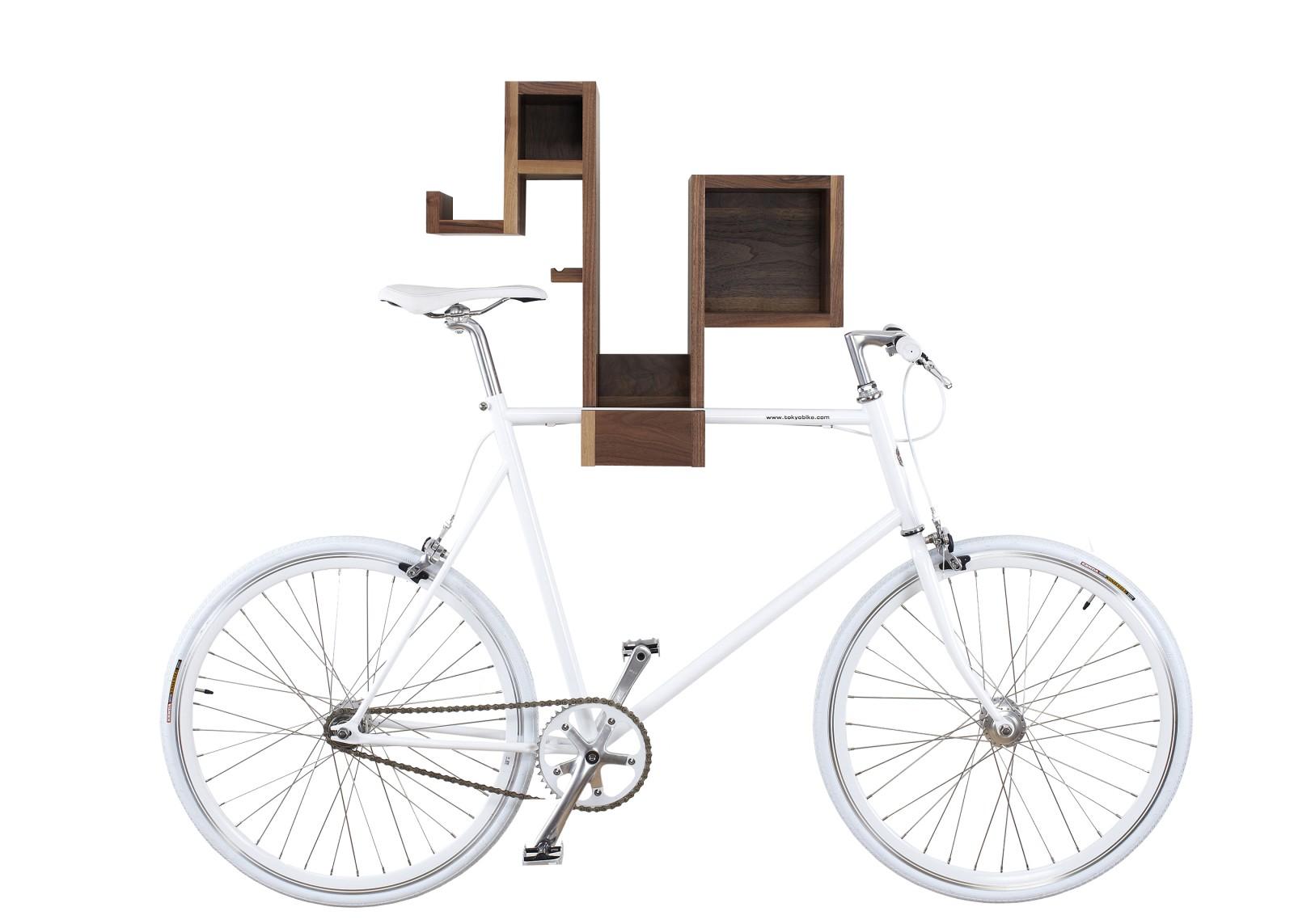 Pedal Pod Bike Rack Walnut