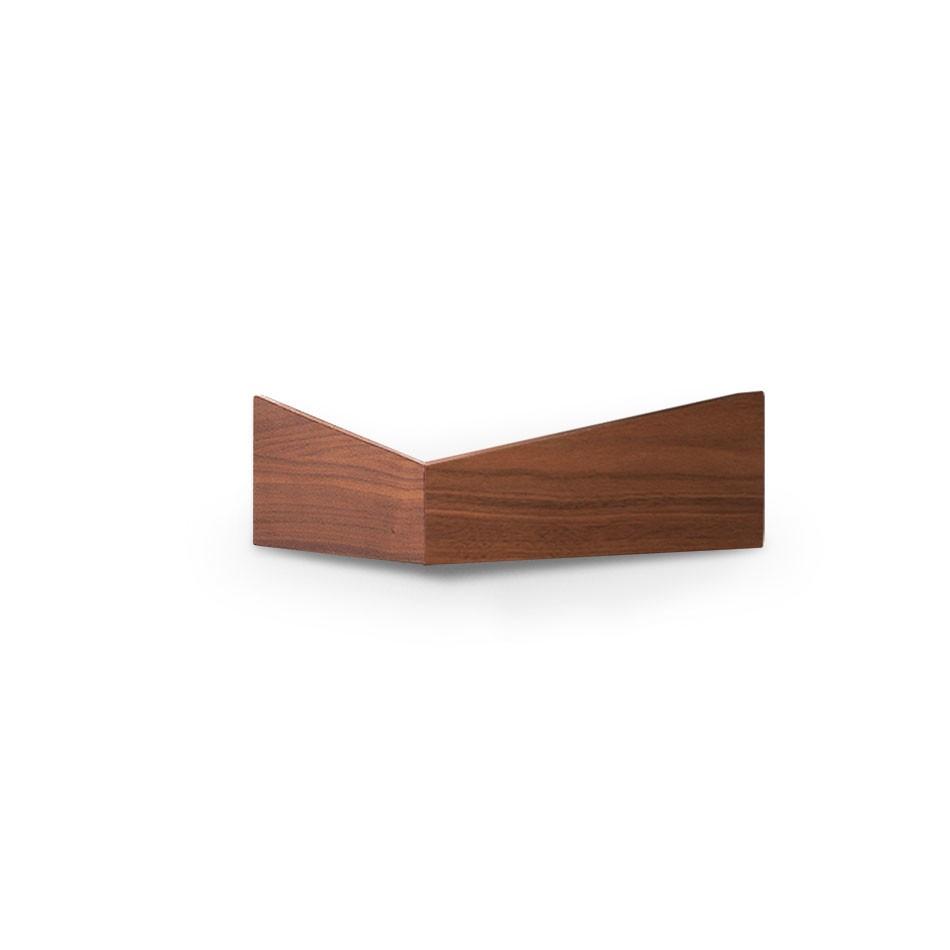 Pelican Shelf with hidden hooks Walnut, Small