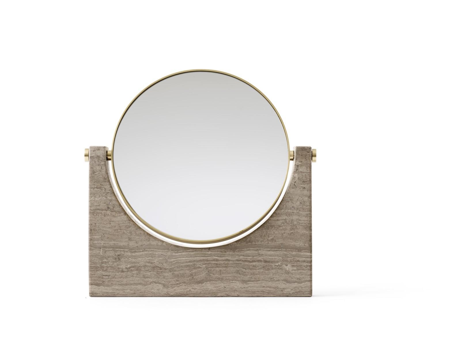 Pepe Marble Mirror Brass/Honed Brown