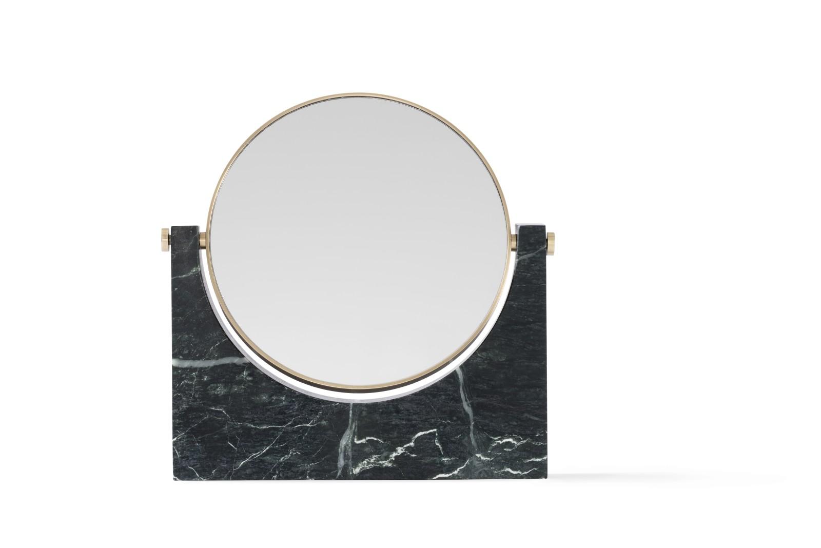 Pepe Marble Mirror Brass/Green