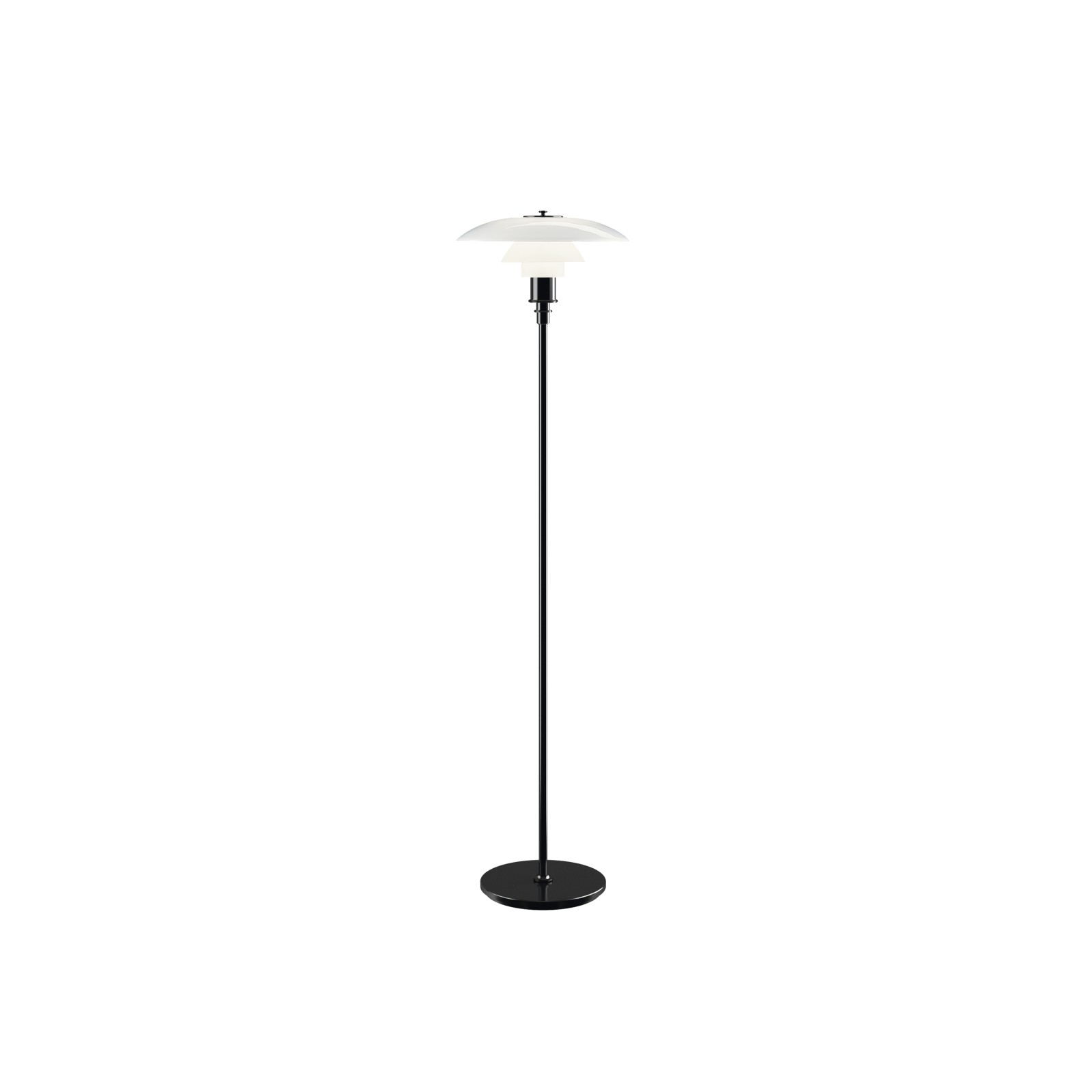 PH 3½-2½ Floor Lamp UK Plug, Black Metallised