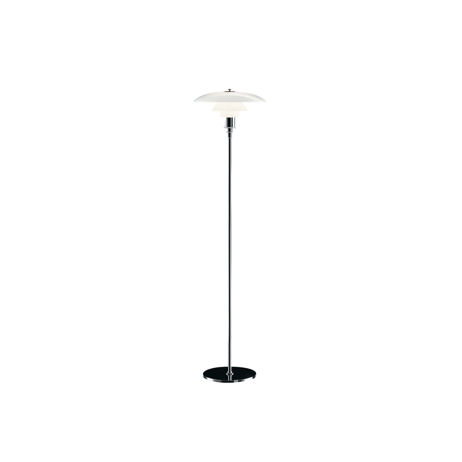 PH 3½-2½ Floor Lamp UK Plug, High Lustre Chrome Plated