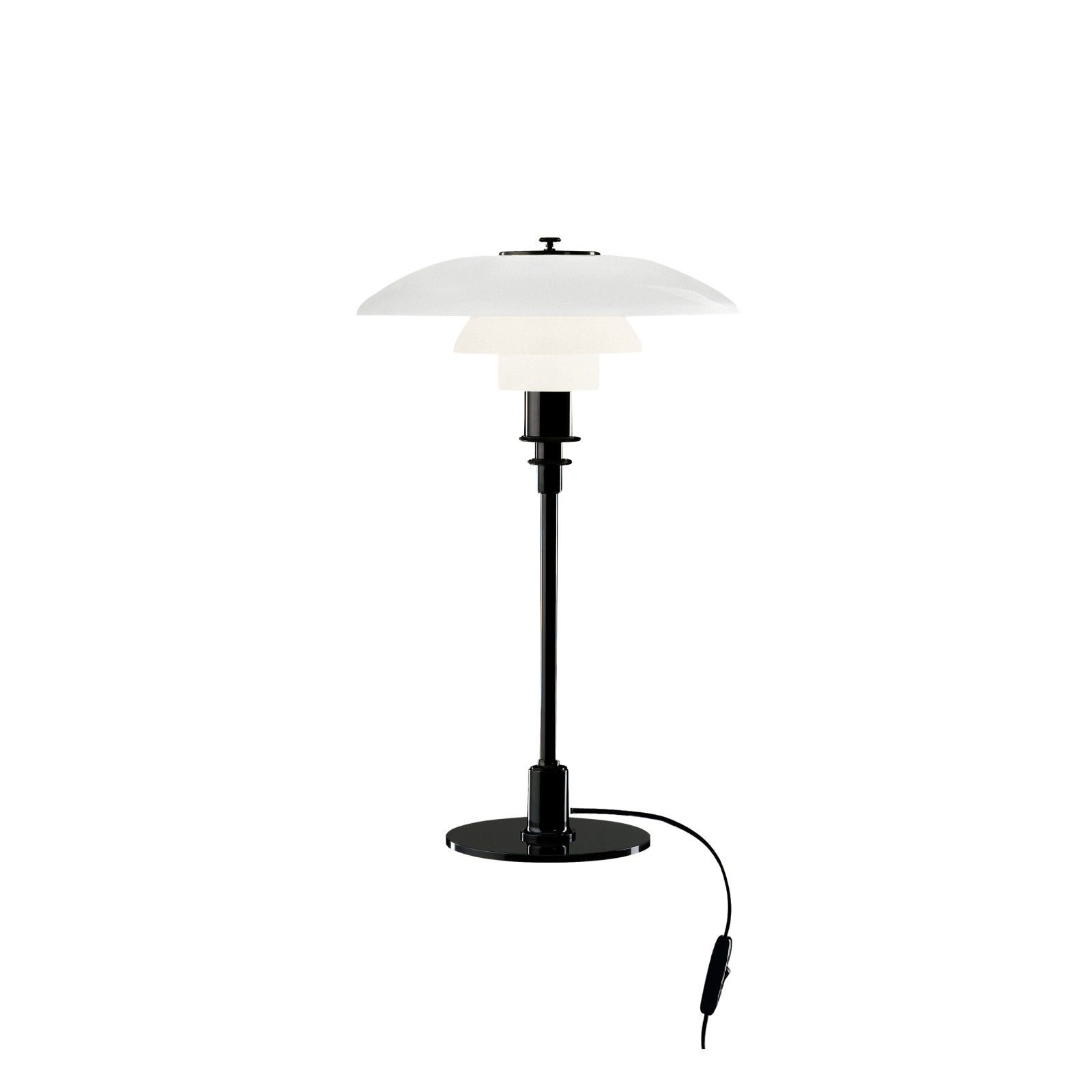 PH 3/2 Table Lamp UK Plug, Black Metallised