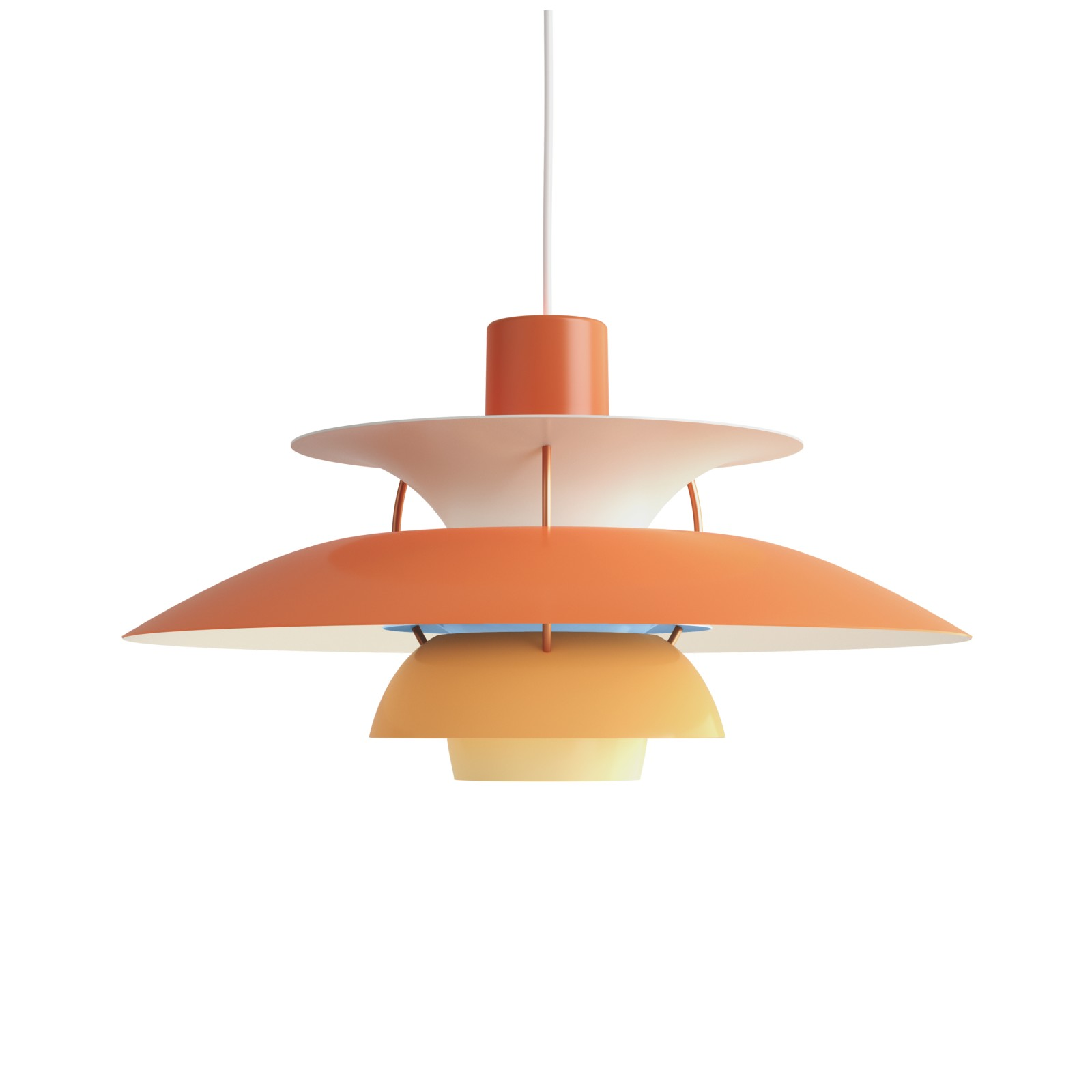 PH 5 Pendant Light Hues of Orange