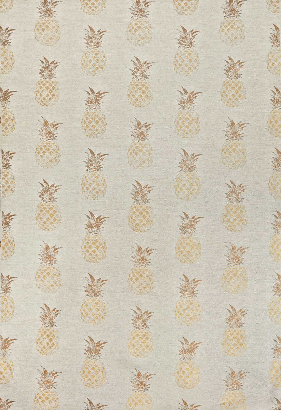 Pineapple Fabric Gold on Natural