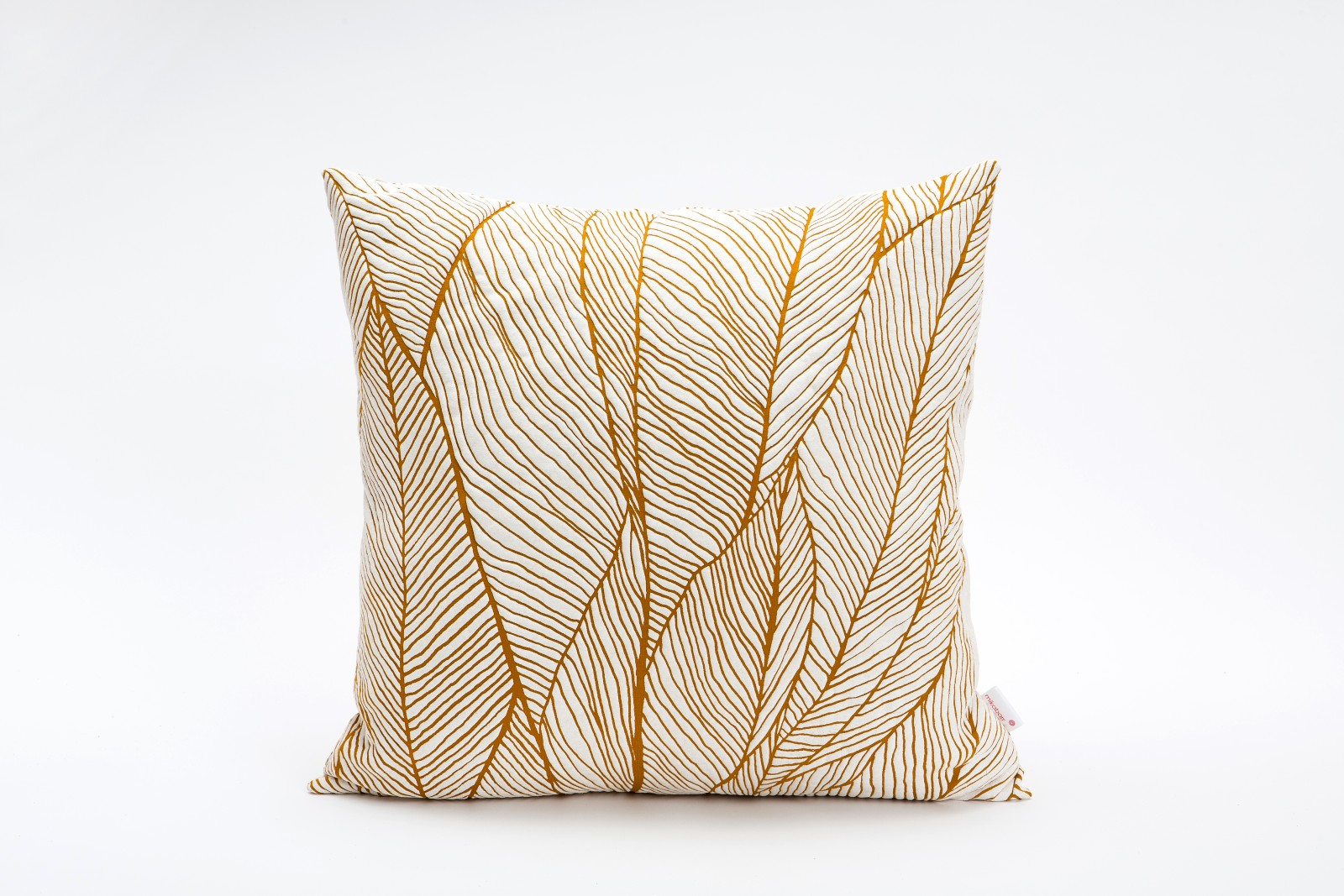 Pinion Square Cushion Cover Pinion Ocker & White