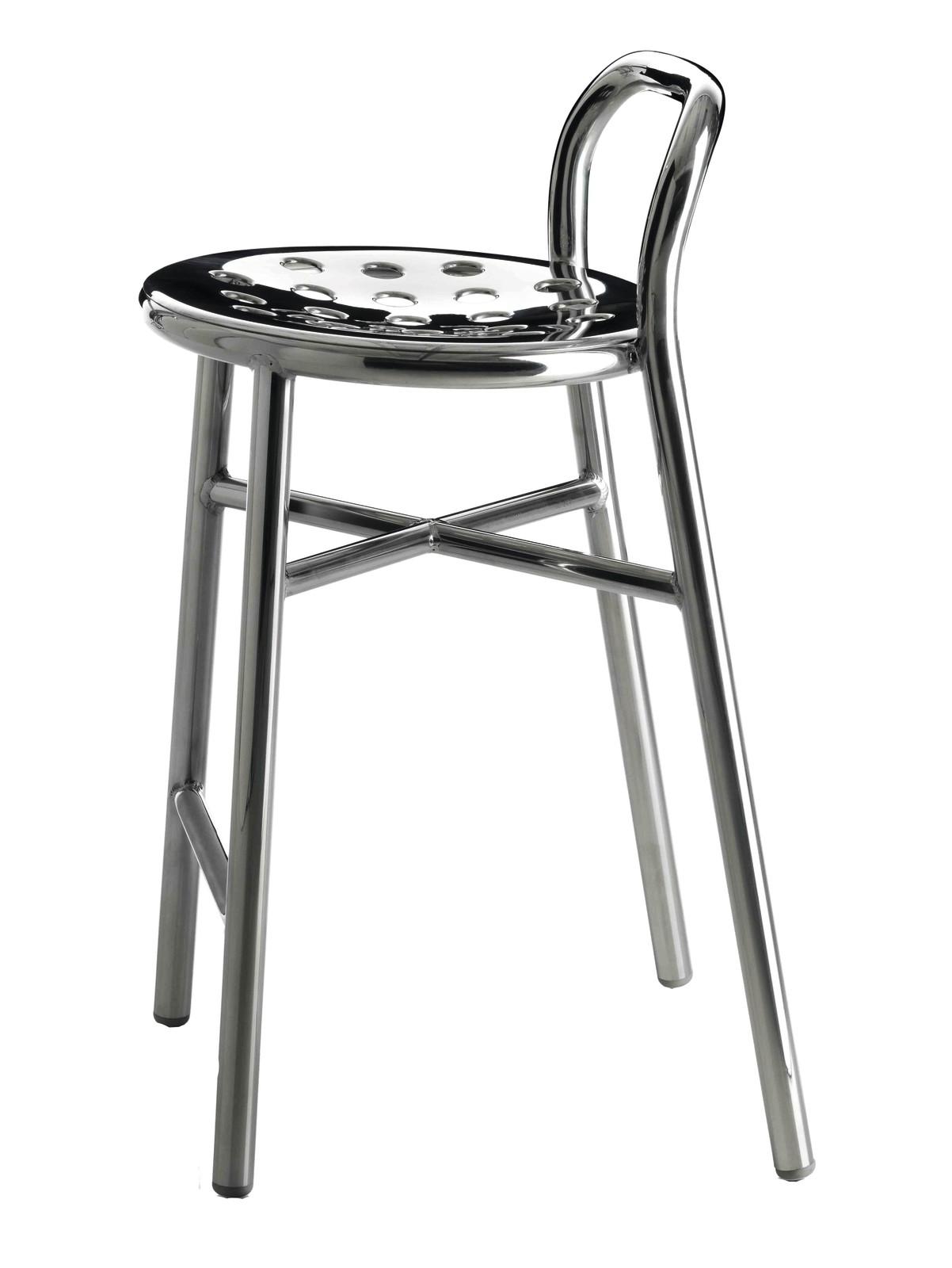 Pipe Barstool Aluminium, Medium, Indoor