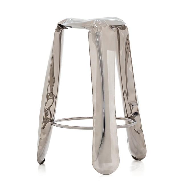 Plopp Barstool Polished Steel