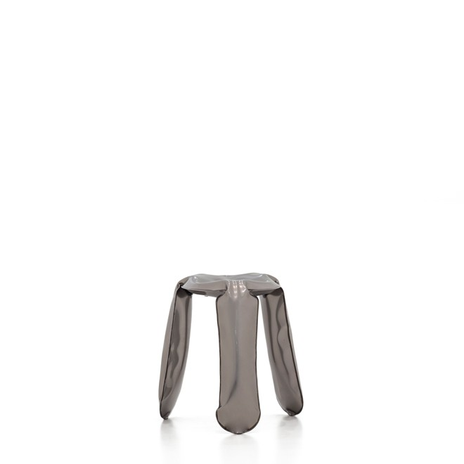 Plopp Stool Raw Lacquered Industrial Look, Mini