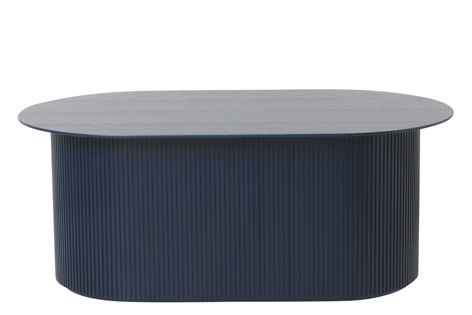 Podia Oval Coffee Table Dark Blue