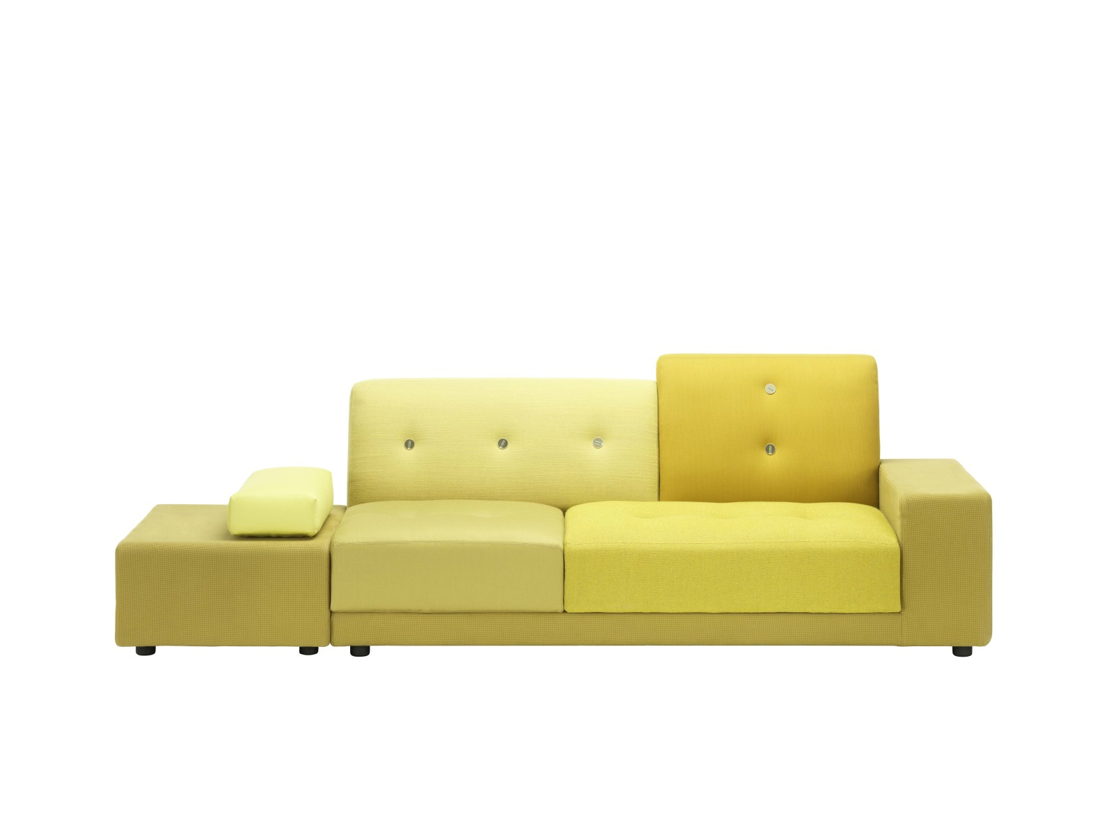 Polder Sofa Golden Yellow, 02/L Armrest left/sitting right