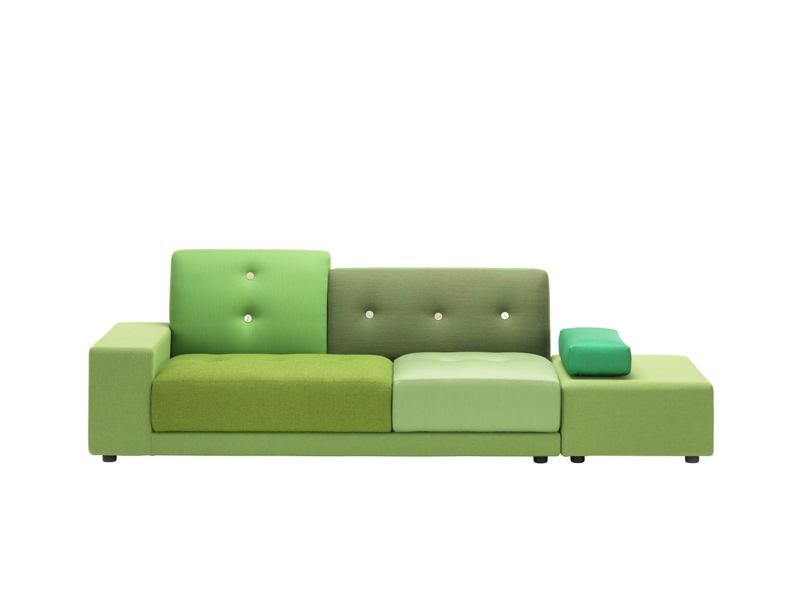 Polder Sofa Green, 01/R Armrest right/sitting left