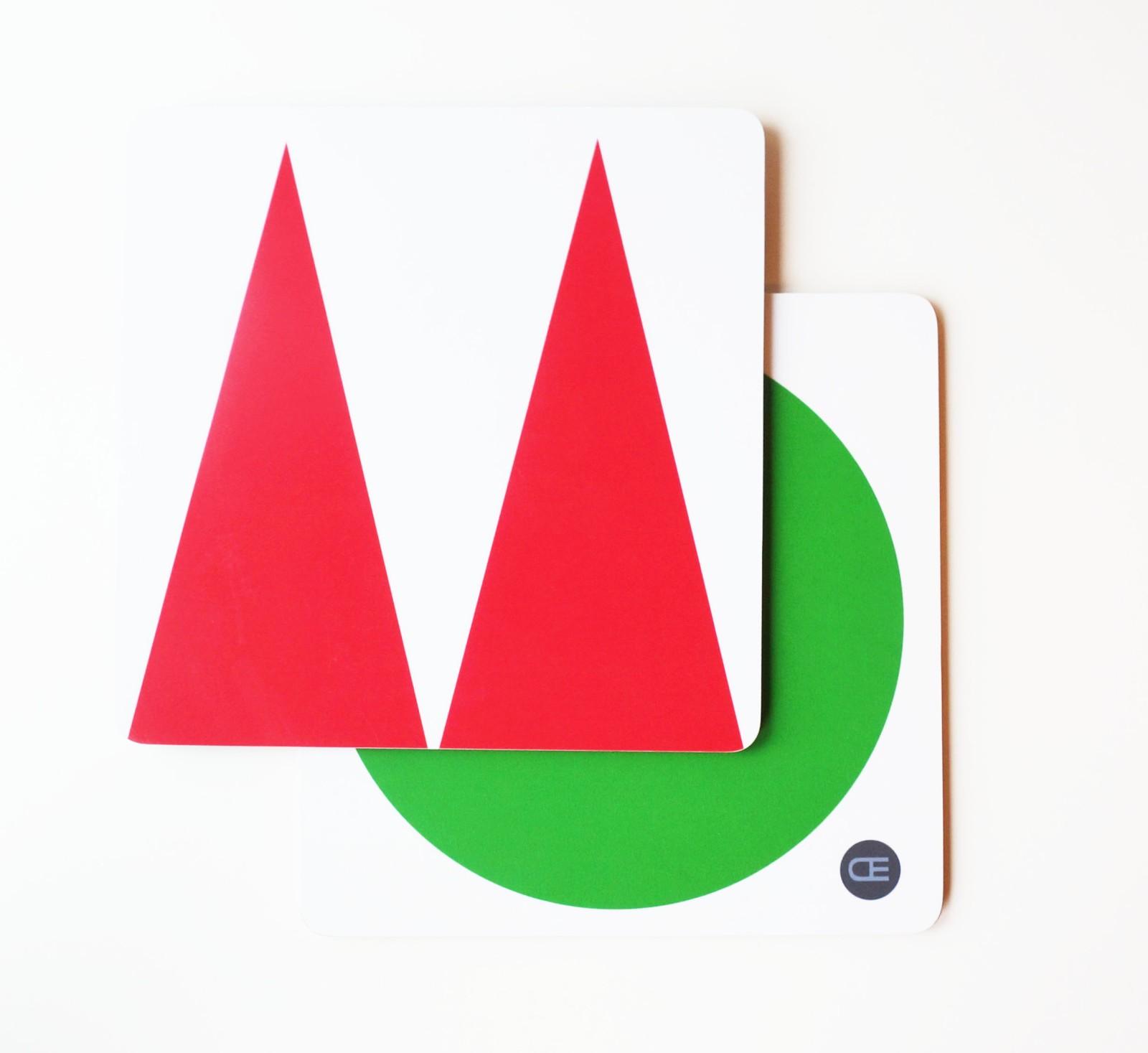 Pot Coaster Red, Green