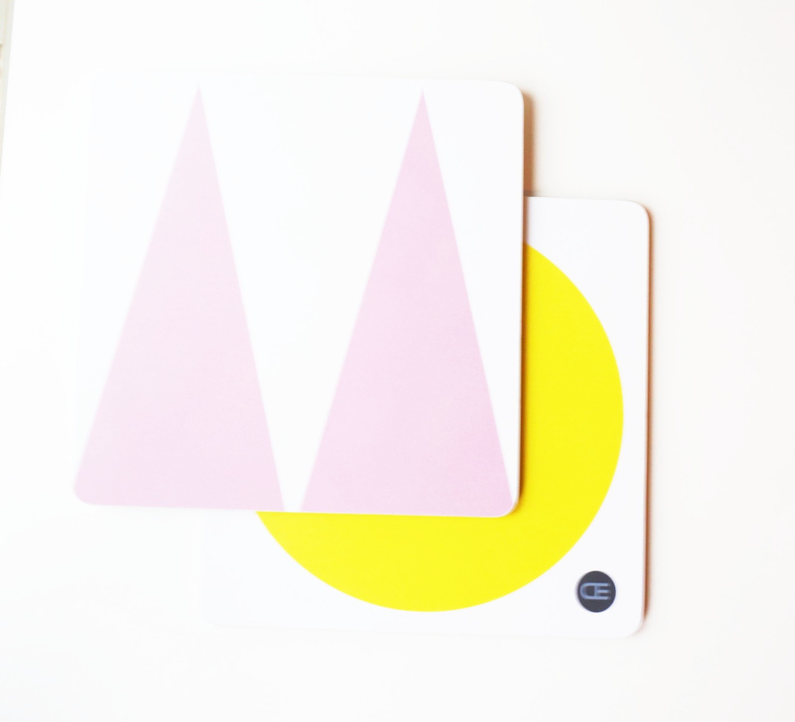 Pot Coaster Yellow, Pink