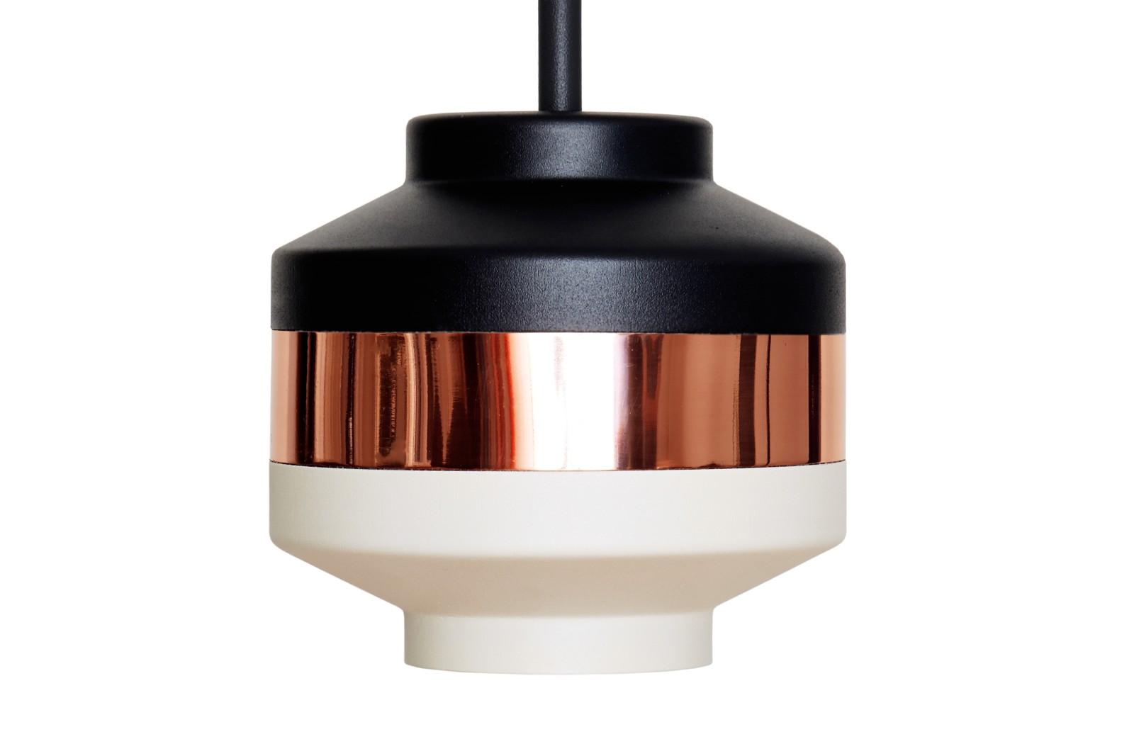 Pran Pendant Light 238 Black, Copper & White