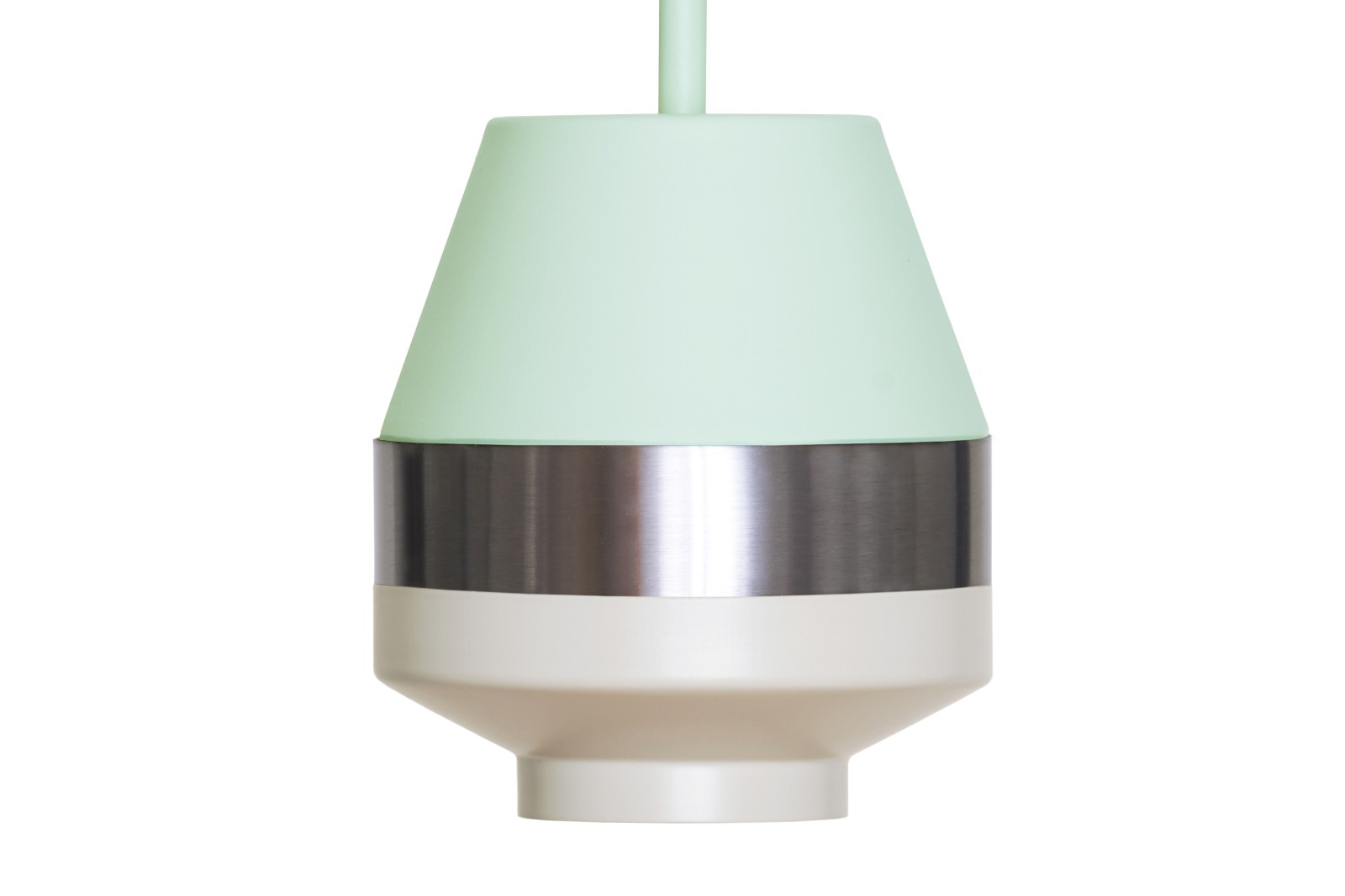 Pran Pendant Light 258-A Mint, Silver & White
