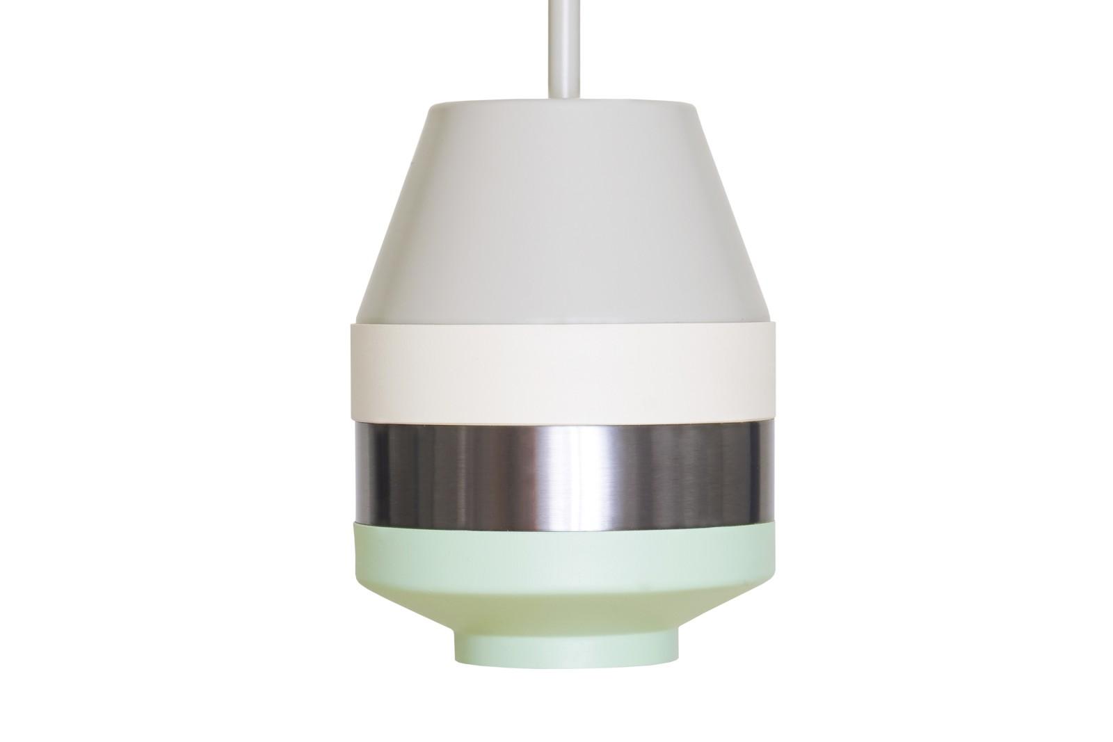 Pran Pendant Light 296 Grey, White, Silver & Copper