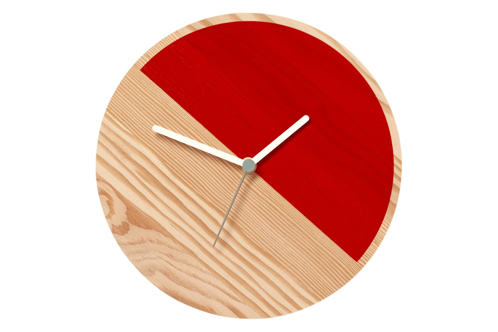 Primary Wall Clock Half, Red