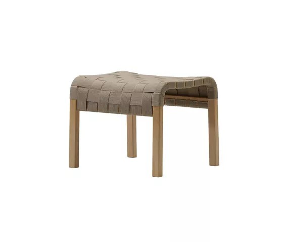 Primo Stool Oak Natural Lacquer, Braded Leather Natural