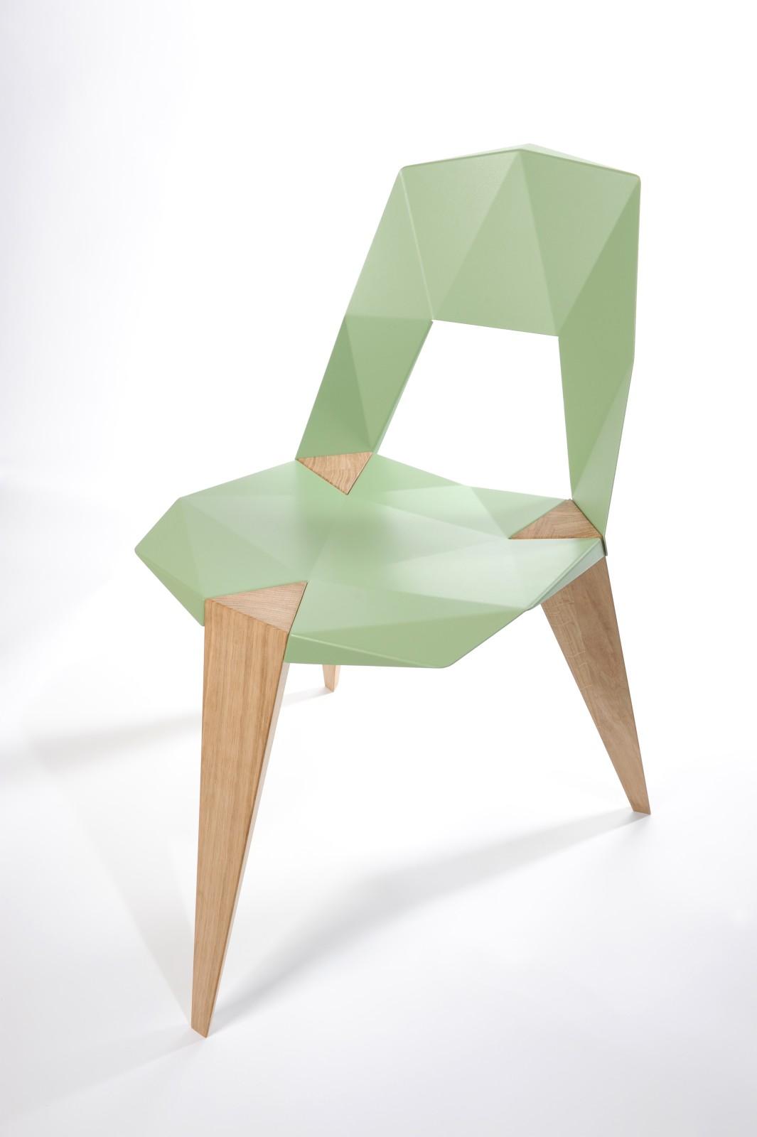 Pythagoras Pale Green, Oak Legs
