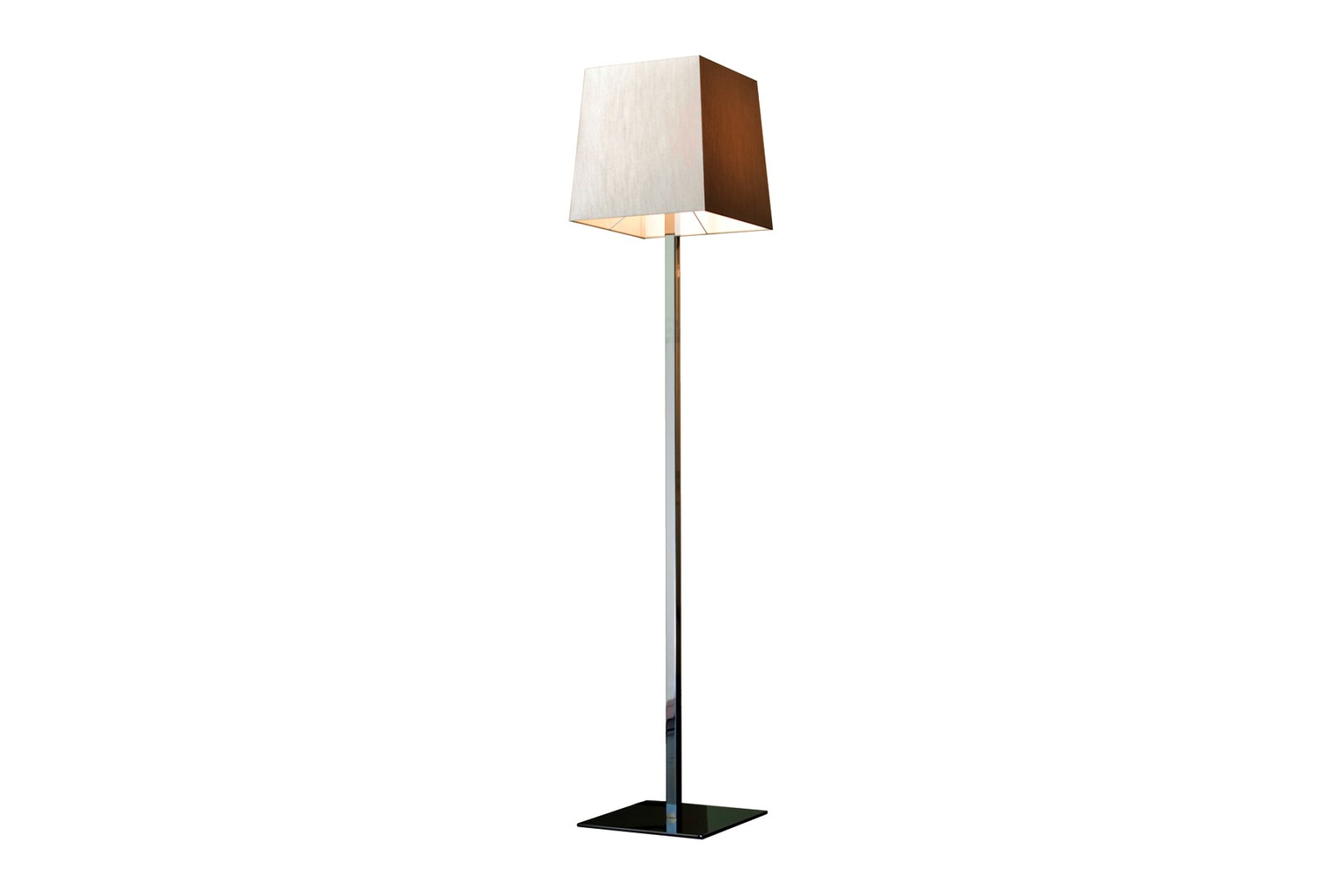 Quadra Floor Lamp Satin bronze, Coto white