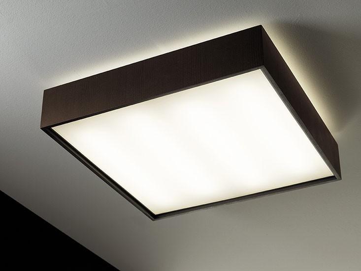 Quadrat 60x60 LED, Wenge