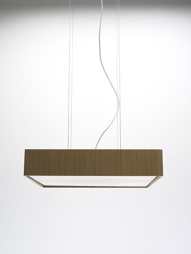Quadrat 60x60 Suspension Lamp Oak, LED