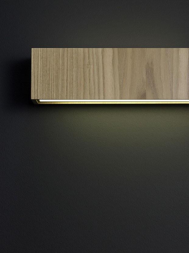 Quadrat Wall Lamp LED, Wenge