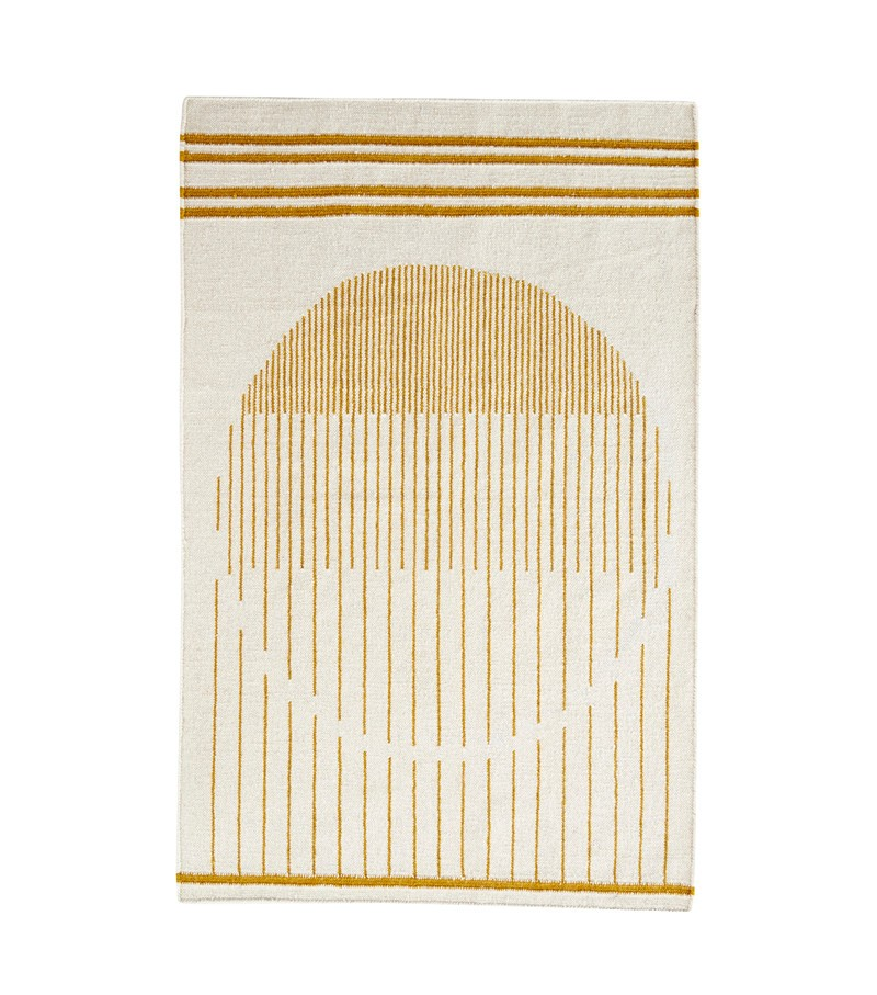 Raining Circle Rug White/yellow