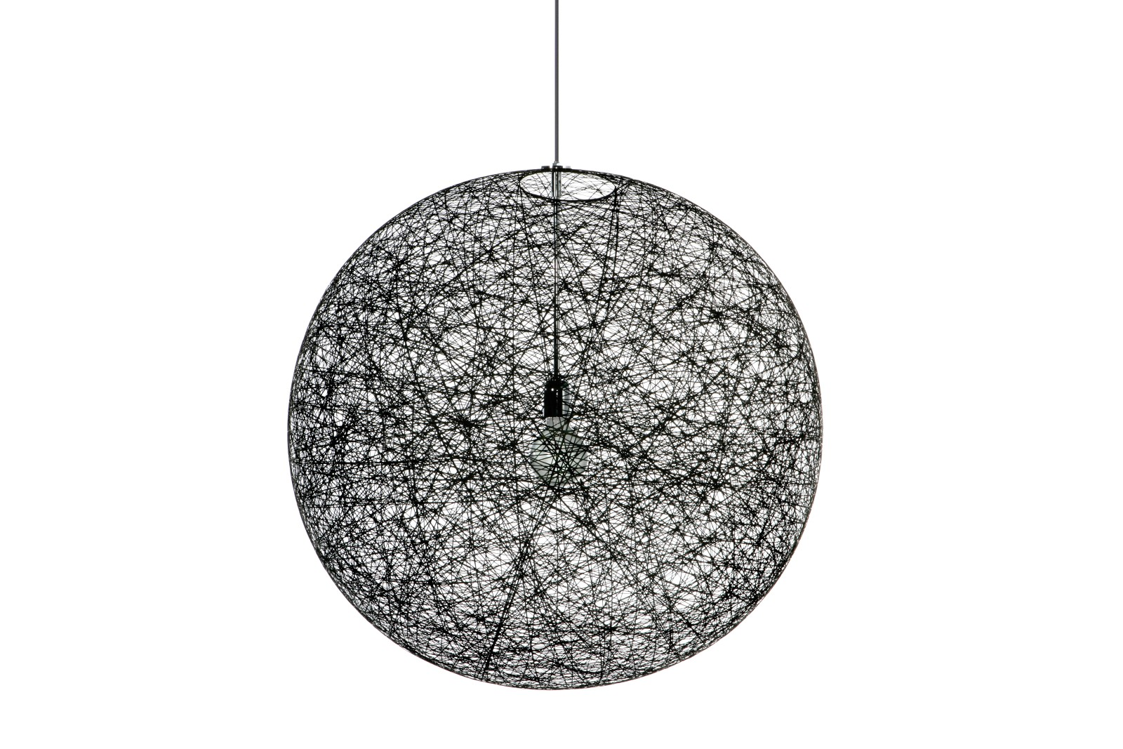 Random Pendant Light Black, Medium, 400cm, LED
