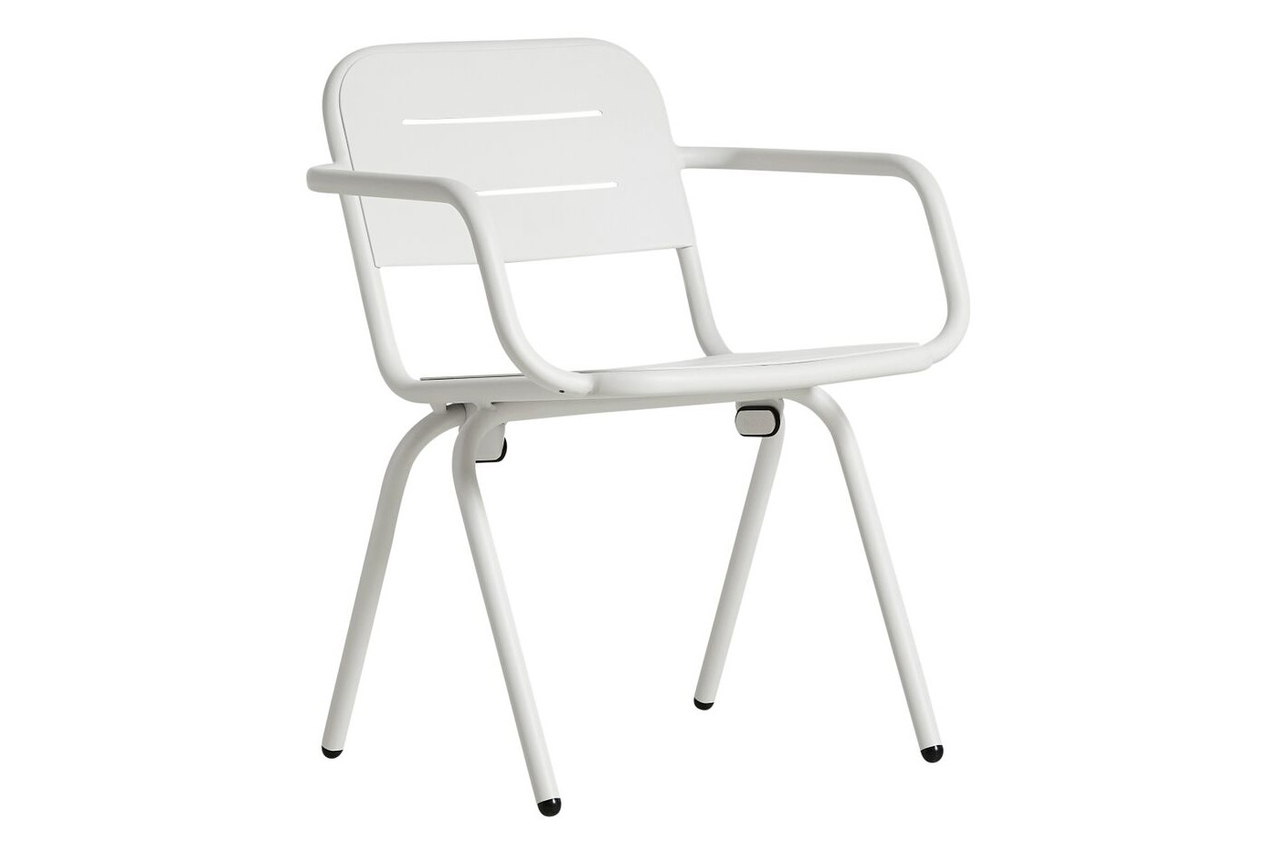 Ray Dining Chair with Armrests - Set of 2 White