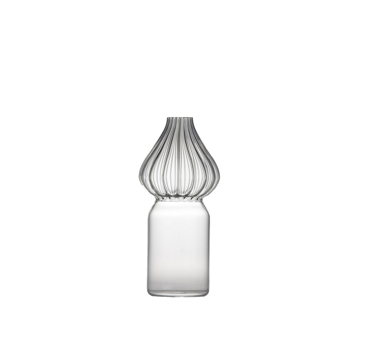 Red Square Medium Vase Transparent