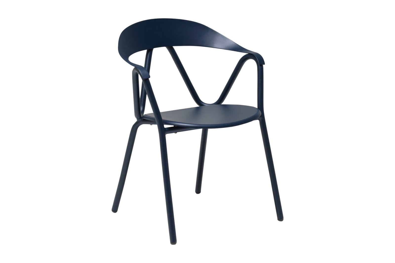 Reef Armchair - Set of 4 Dark Blue 48