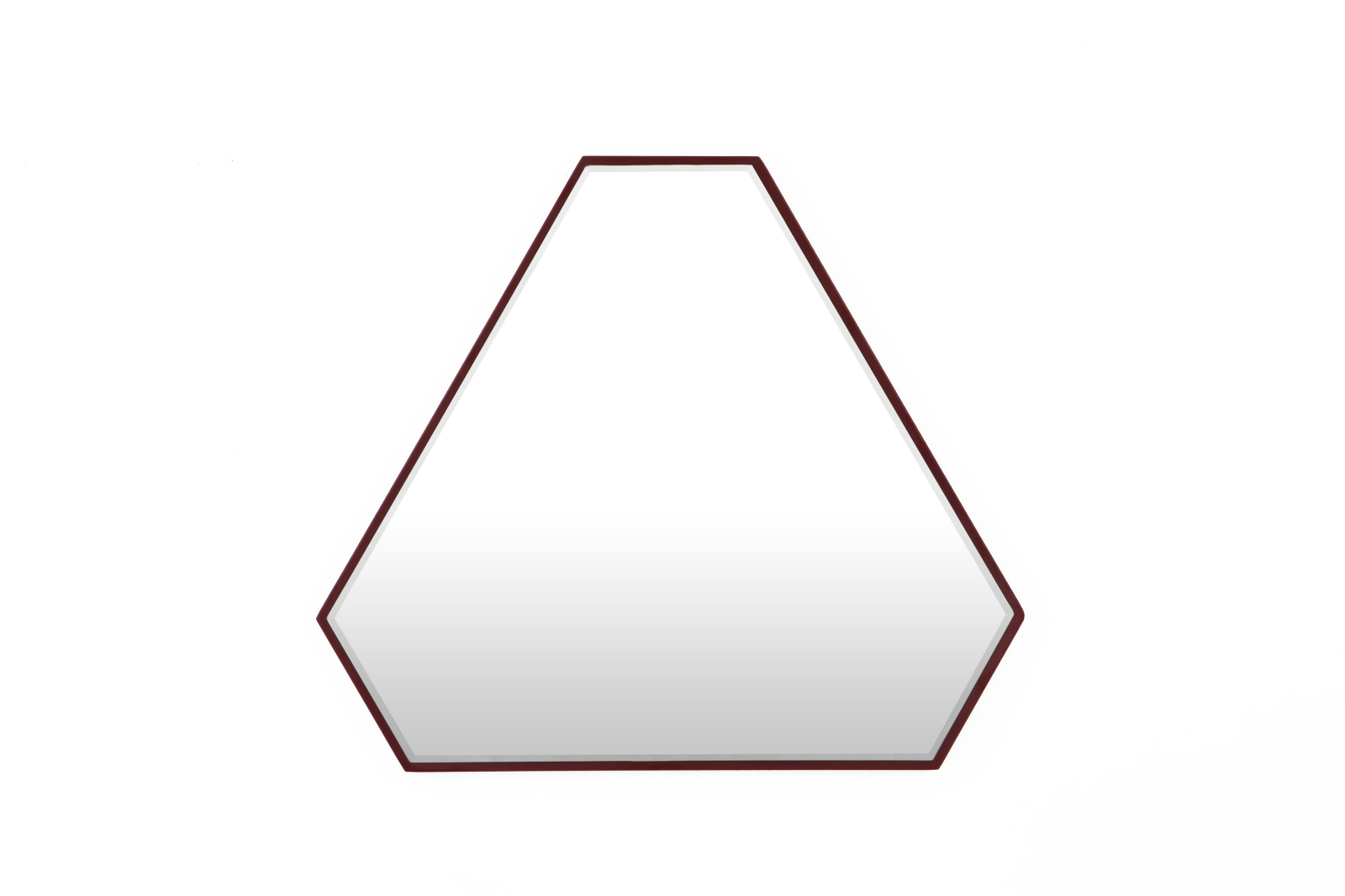 Reflection Triangle Mirror Burgundy Red
