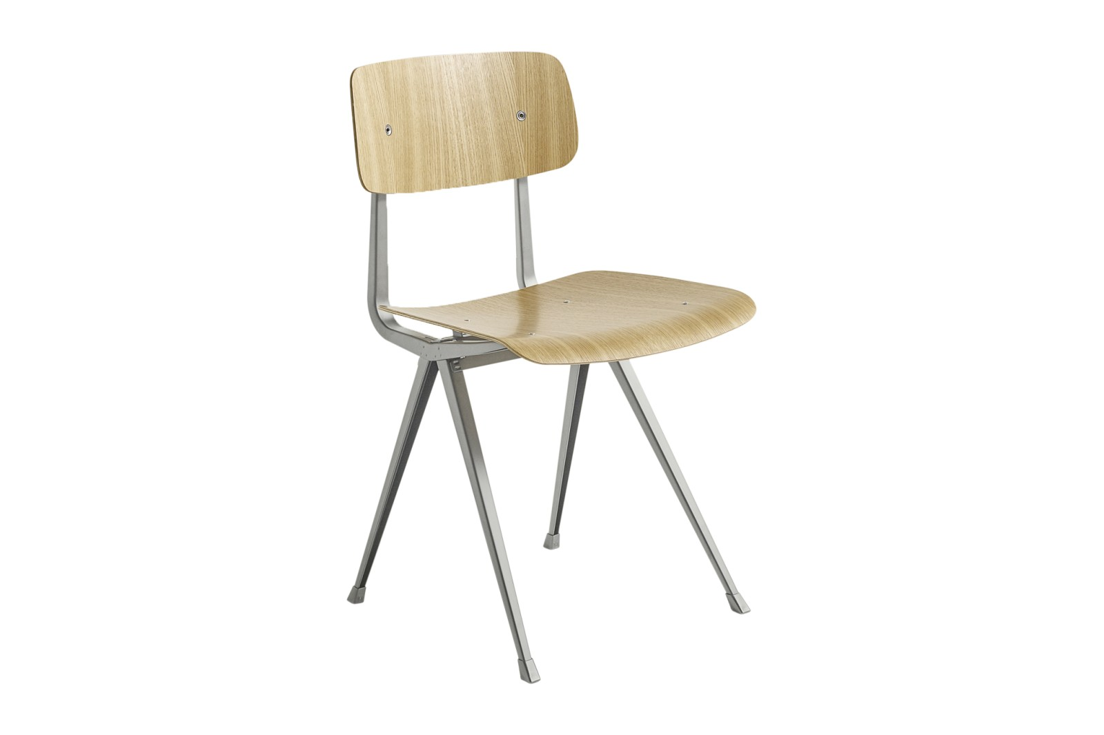 Result Chair Clear Oak Veneer Shell, Beige Frame