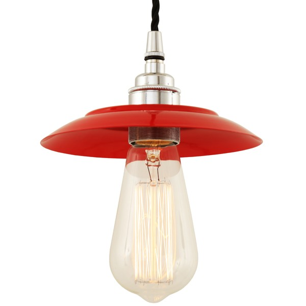 Reznor Industrial Pendant Light Red