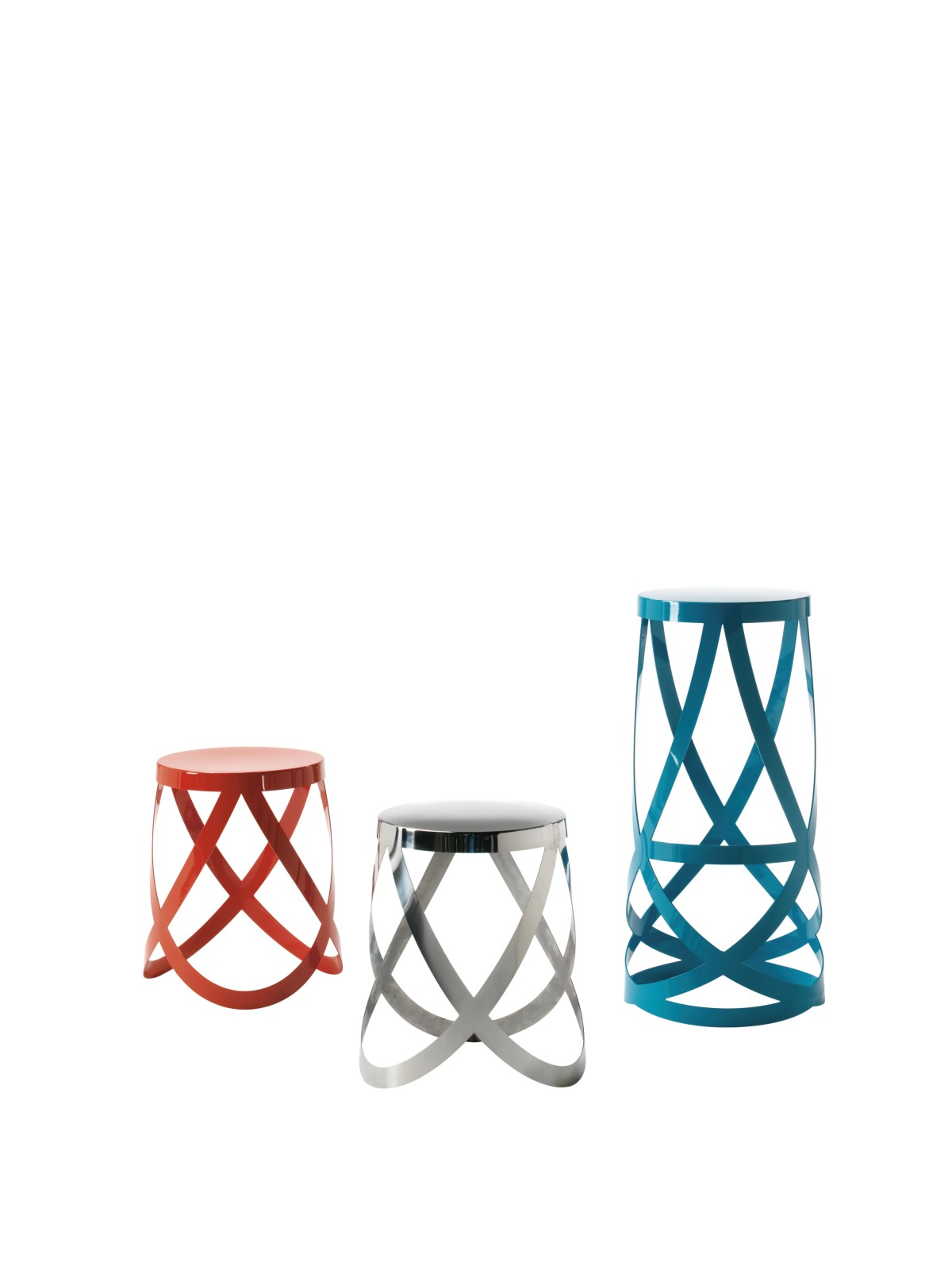 Ribbon High Stool Red