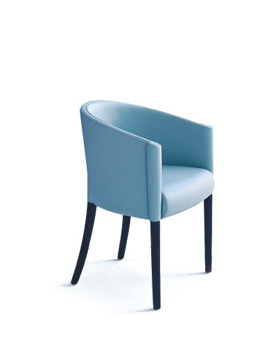 Rich Chair A4500 - Art.48045 - 206 beige, Matt Black Beech Feet