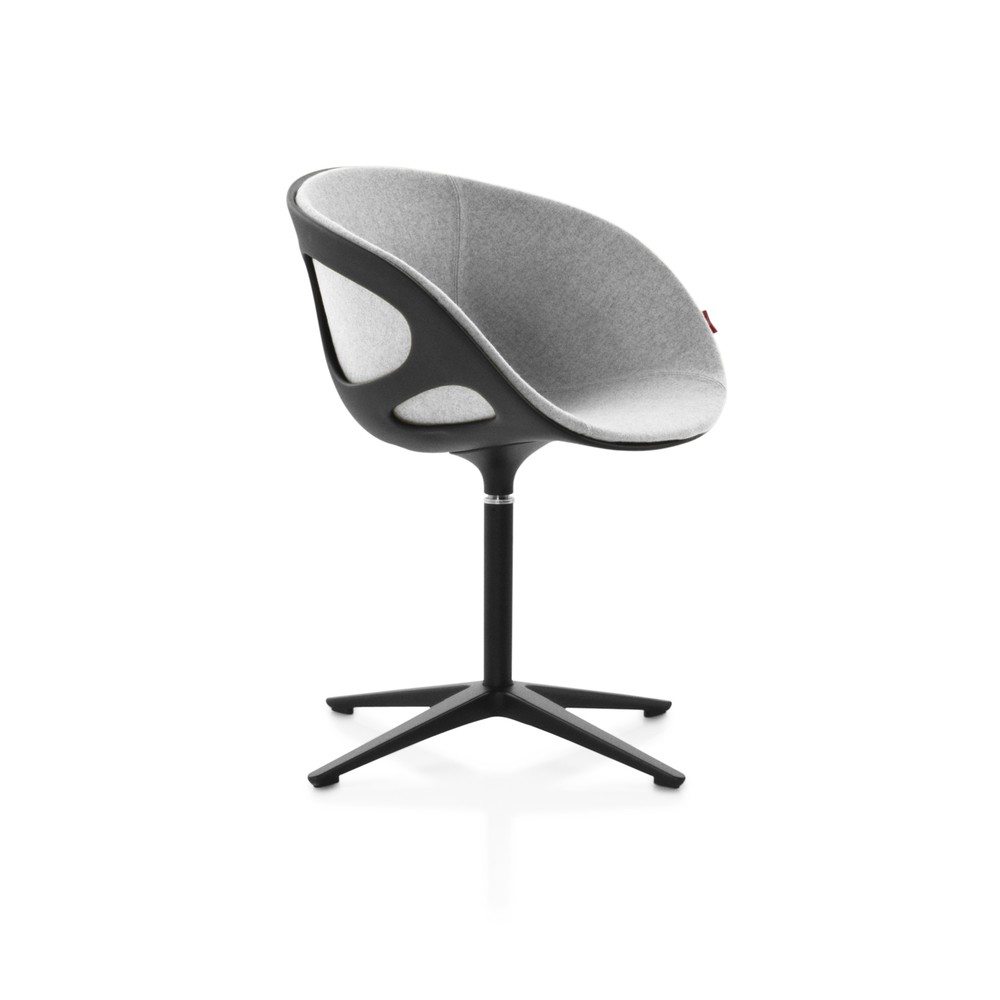 Rin Fixed Front Upholstery Chair Divina Melange 2 120, Matching aluminium, Plastic Black