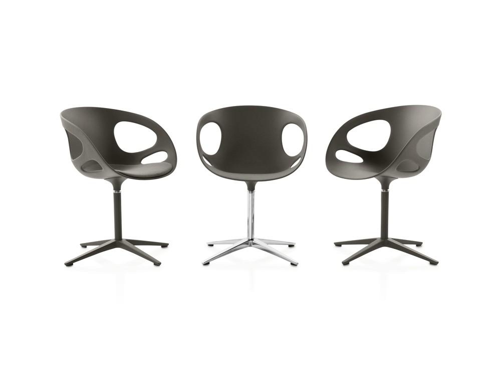 Rin Plastic Chair Plastic Black, Matching aluminium