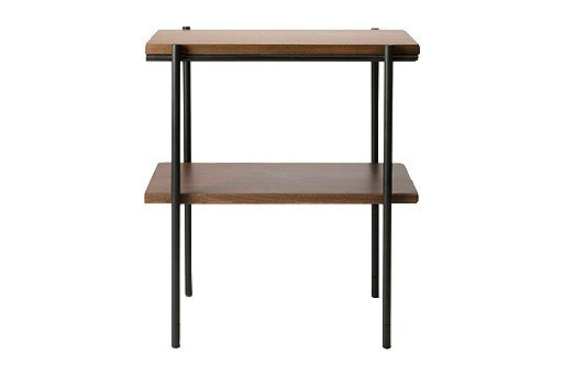 Rise Rectangular Side Table Walnut