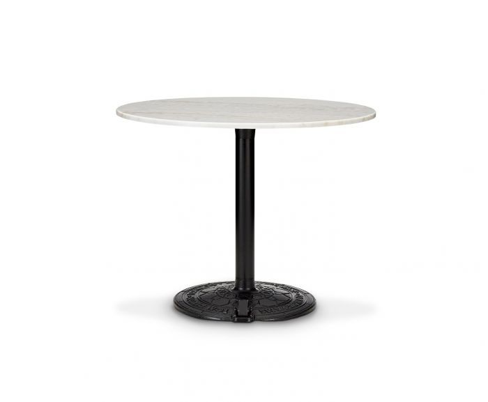 Roll Table White Marble Top, 90cm