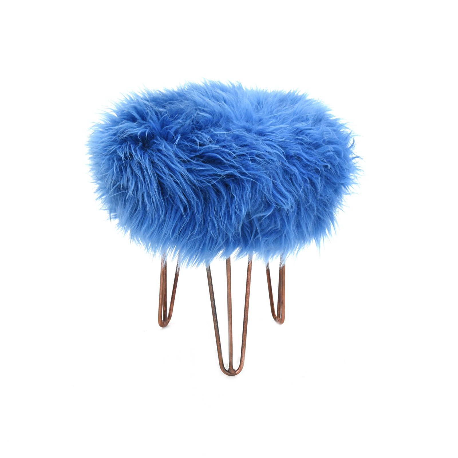 Rona Baa Stool in Cornflower Blue