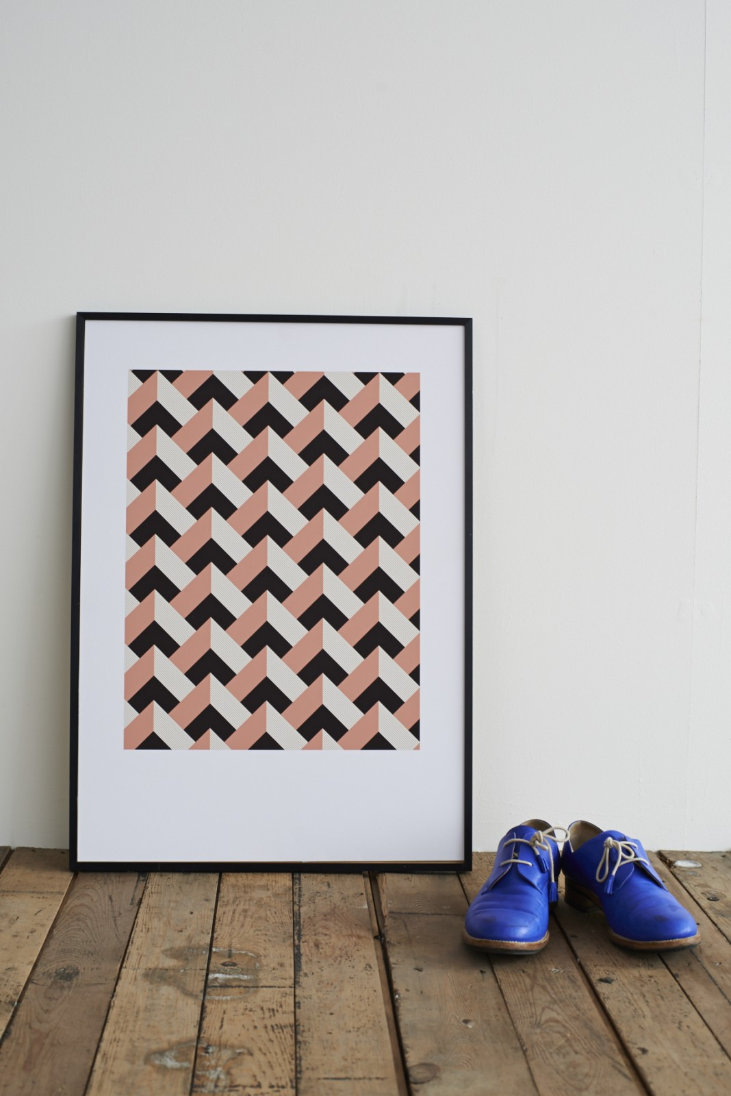 Rose Peaks Screen Print With Frame
