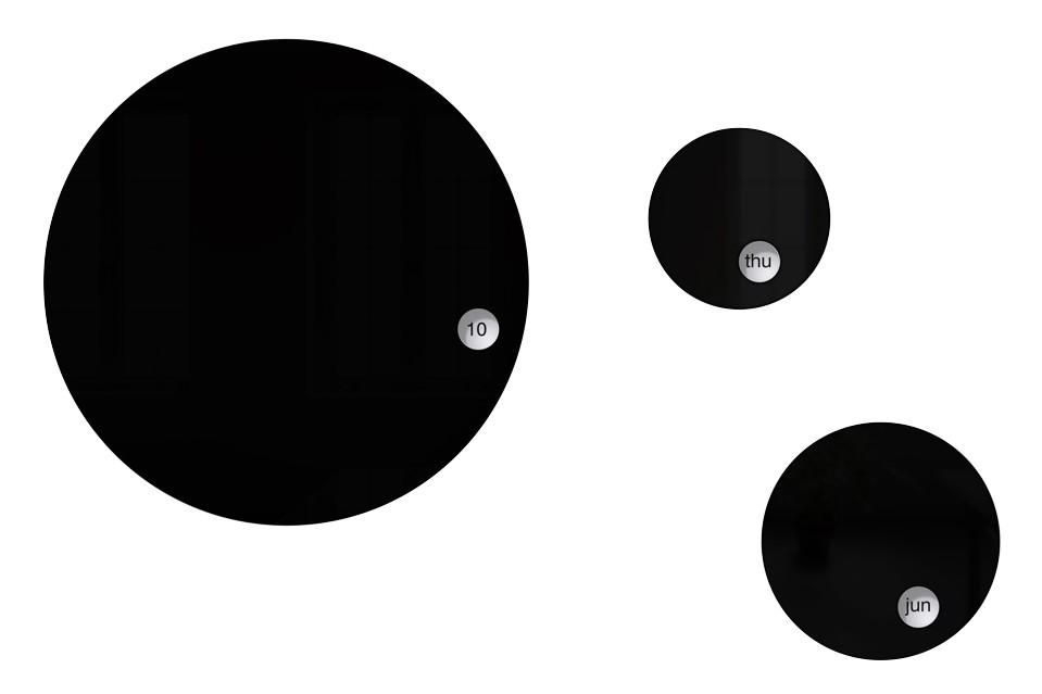 Round & Round Calendar Black