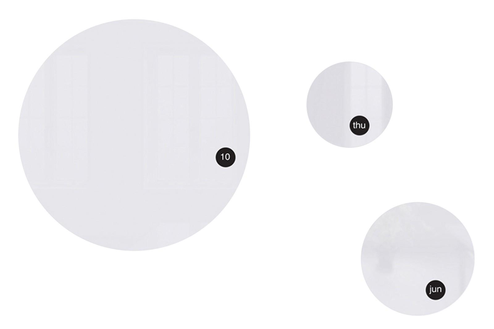 Round & Round Calendar White
