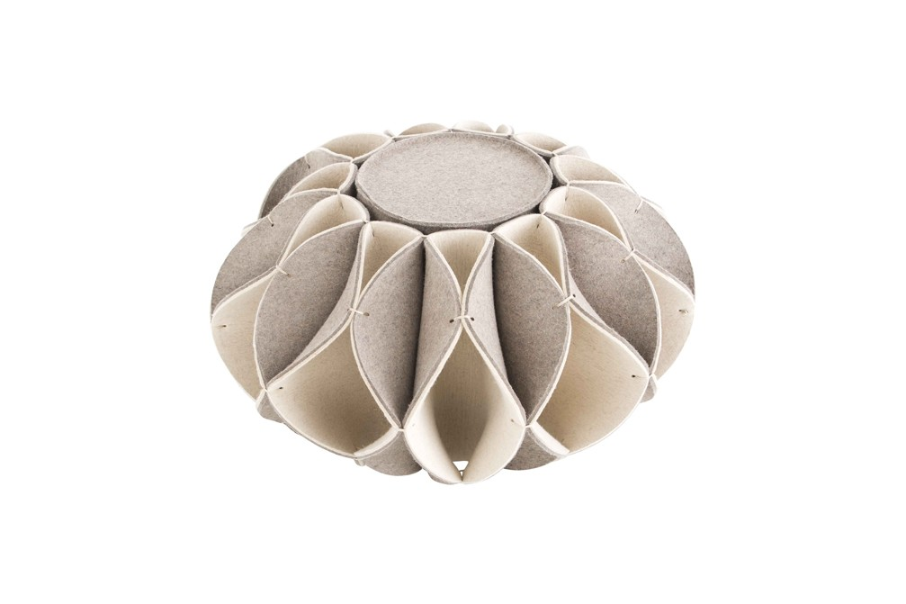 Ruff Pouf High Beige