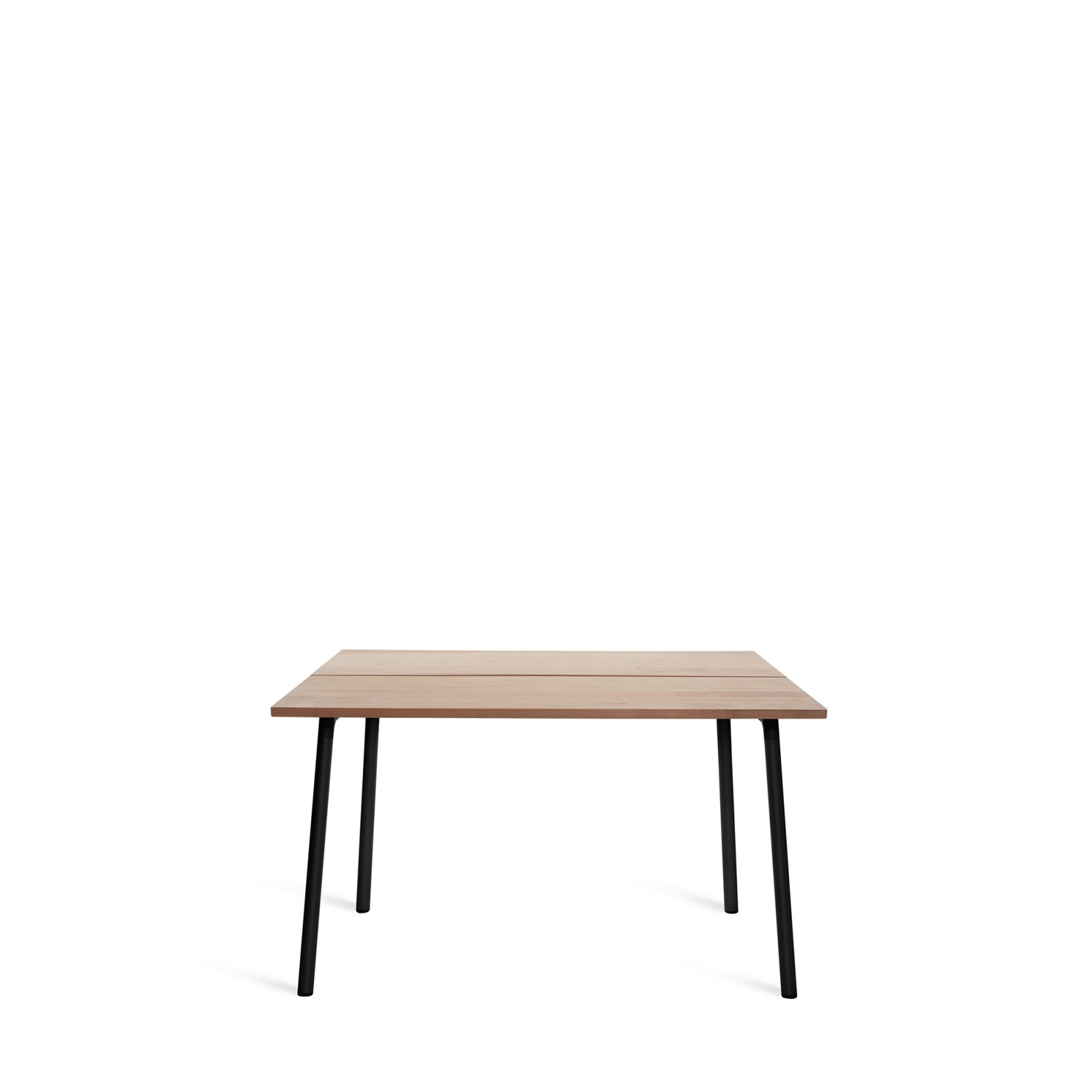 Run Dining Table 122cm, Black, Cedar Top