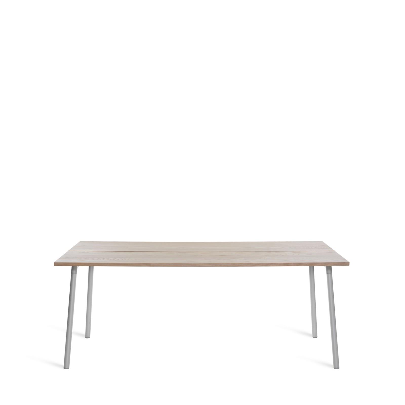 Run Dining Table Rectangular 183cm, Clear Aluminium, Ash