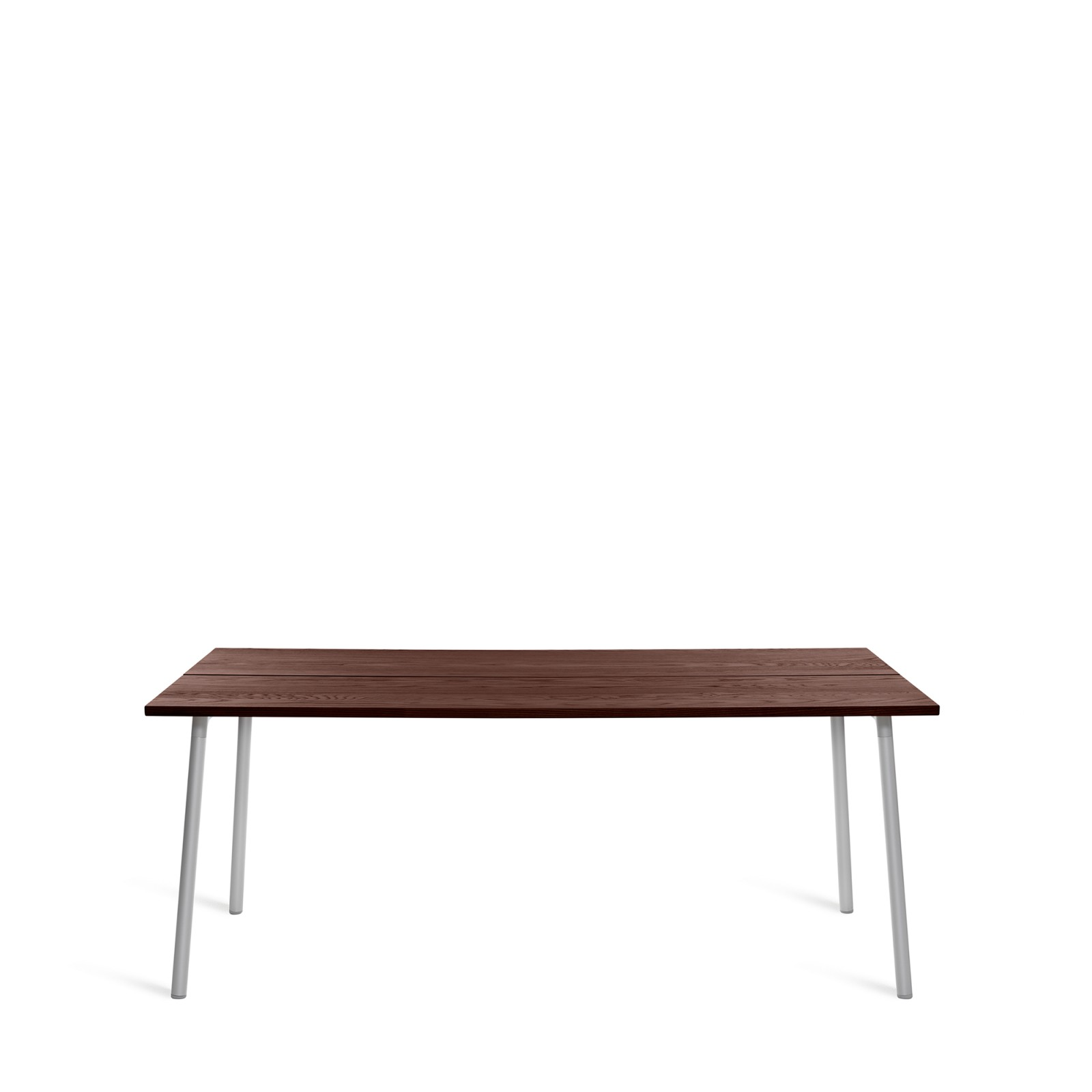 Run Dining Table Rectangular 183cm, Clear Aluminium, Walnut